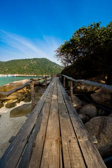 Free Isolated Wooden Path Stock Photos - 8519273