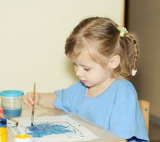 Free Drawing Girl Royalty Free Stock Image - 8519706