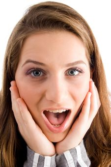 Free Surprised Female Looking At Camera Stock Images - 8519944