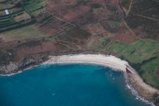 Free Aerial View Of Beach And Ocean Royalty Free Stock Images - 85129799