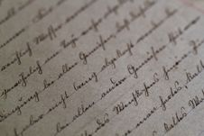 Free Cursive Script On Antique Paper Royalty Free Stock Photography - 85130017