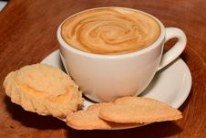 Free Cappuccino And Cookies Royalty Free Stock Images - 85131979