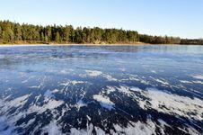 Free Swedish Lake Bordering Dense Forest Stock Photos - 85137663