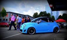 Free Fiat 500 Baby Blue Stock Photography - 85137812