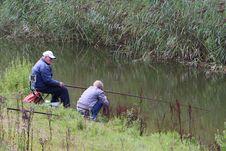 Free Grandpa Fishing With Kid Stock Photos - 85151103