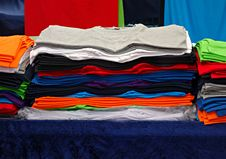 Free PUBLIC DOMAIN DEDICATION - Pixabay Digionbew 12. 15-07-16 Pile Of Folded T-shirts LOW TES DSC06294 Royalty Free Stock Photos - 85151828