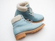 Free Blue Winter Boots Stock Photography - 85156402