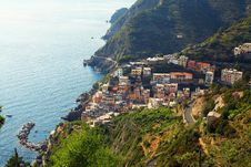 Free Village On Cliff Over Sea Royalty Free Stock Image - 85156646