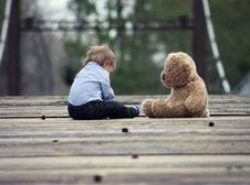 Free Boy With Teddy Bear Royalty Free Stock Photography - 85156667