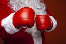 Free Santa Claus Wearing Boxing Gloves Stock Photos - 85158423