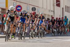 Free Panoramic View Of People In Bicycles Stock Photos - 85159313