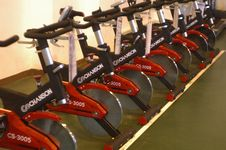 Free Exercise Bikes Royalty Free Stock Photo - 85164655