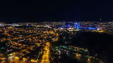 Free Illuminated City Skyline At Night Stock Photography - 85192302