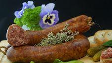 Free Bratwurst Sausage Link Stock Image - 85199021