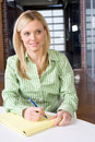 Free Business Woman At Her Desk Royalty Free Stock Photography - 8524377