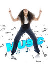 Free MUSIC - Female Dancing Royalty Free Stock Photography - 8525427