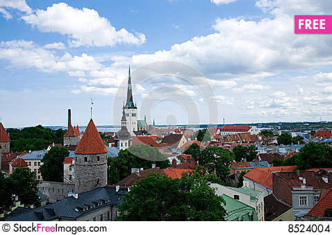 Free View Of Tallinn Center Stock Images - 8524004