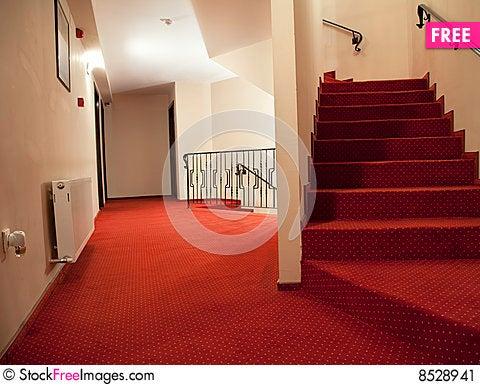 Hotel stairs Stock Photo