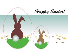 Free Happy Easter Greeting Card Stock Photography - 8520972