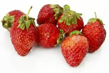 Free Strawberries Over White Background Royalty Free Stock Photography - 8521117