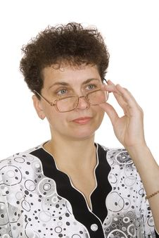 Free Curly Woman With Spectacles Royalty Free Stock Photo - 8521335