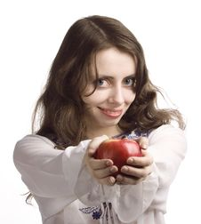 Free Funny Apple Royalty Free Stock Image - 8521656