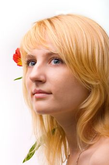 Free Beautiful Girl With Flower In Hair Royalty Free Stock Photo - 8521855