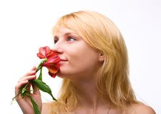 Free Beautiful Girl With Flower In Hair Royalty Free Stock Image - 8521896