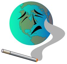 Cigarette And World Stock Images