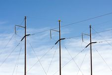 Free Electrical Power Lines Royalty Free Stock Photo - 8522465