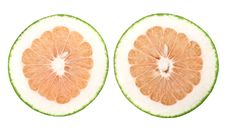 Free Two Slices Of Grapefruit Royalty Free Stock Images - 8522839
