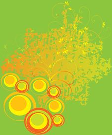 Free Green Background With Yellow Circles Stock Photos - 8522873