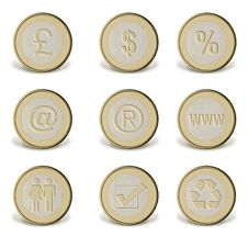 Free Coin Icons Royalty Free Stock Image - 8523196