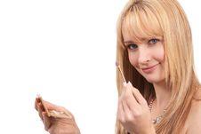 Free Portrait Of Beautiful Blonde Woman Royalty Free Stock Image - 8523646