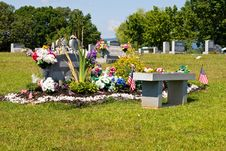 Free Highly Adorned Cemetery Plot Stock Photo - 8523880