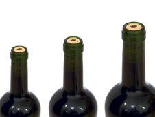 Free Three Wine Bottles Stock Image - 8525001