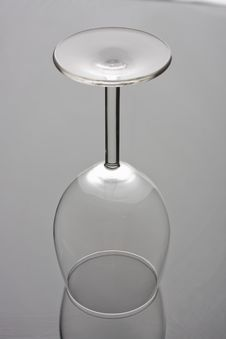 Free Transparent Empty Wine Glass Royalty Free Stock Images - 8525189