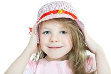 Free Close-up Portrait Of Smiling Grey-eyed Blonde Girl Royalty Free Stock Photography - 8525227