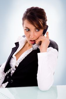 Free Female Corporate Ceo Woman On Phone Stock Photo - 8525320