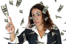 Free Woman Ceo With Money Stock Image - 8525381