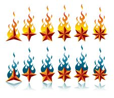 Free Stars&flames Royalty Free Stock Photography - 8525467
