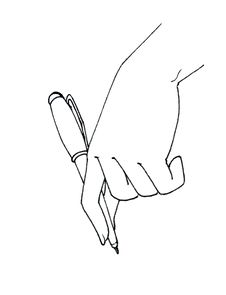 Hand Drawing With Pen Stock Photography