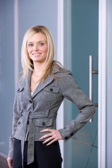 Business Woman Hands On Hips Royalty Free Stock Photo