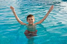 Free Boy In The Pool Stock Image - 8525821