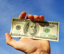 Free Money In Hand Royalty Free Stock Photography - 8525857