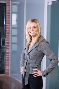 Free Business Woman Hands On Hips Stock Photo - 8525880