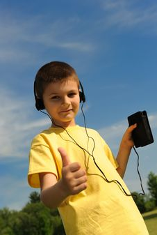 Free Boy In The Headphones Stock Photography - 8525992