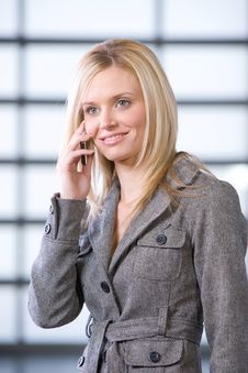 Free Business Woman Talking On Cell Phone Stock Images - 8526024