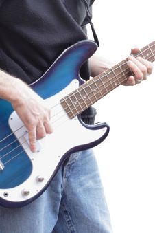 Free Playing Bass Guitar Stock Photography - 8526132