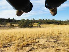 Free Feet Flying Over Desert Royalty Free Stock Photos - 8526628